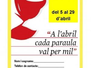 """Gimcana de Sant Jordi """"A l'abril cada paraula val per mil"""""""