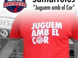 Col·laboració amb el bàsquet Manresa, campanya #JuguemAmbElCor