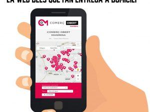 Manresa + Comerç promou www.comercobertmanresa.com, la web dels establiments oberts i els que fan entrega a domicili a Manresa